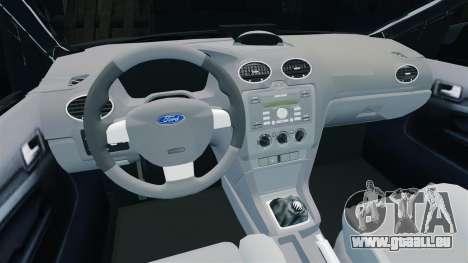 Ford Focus Metropolitan Police [ELS] pour GTA 4 est une vue de l'intérieur