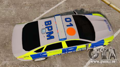 Ford Mondeo 2014 Metropolitan Police [ELS] pour GTA 4 est un droit