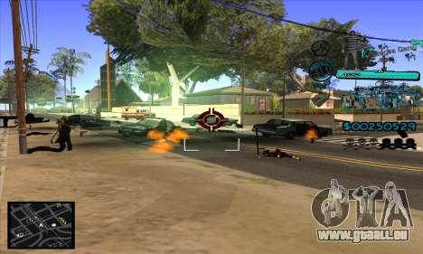 C-HUD Aztecas Gang pour GTA San Andreas cinquième écran