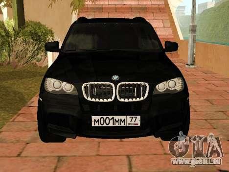 BMW X5 E70 2009 pour GTA San Andreas laissé vue