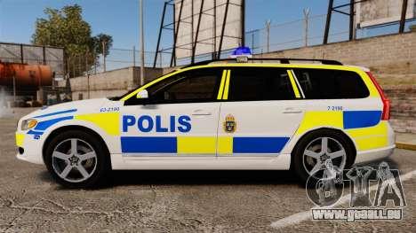 Volvo V70 II Swedish Police [ELS] pour GTA 4 est une gauche