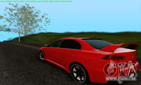 Mitsubishi Lancer X Evolution für GTA San Andreas Motor