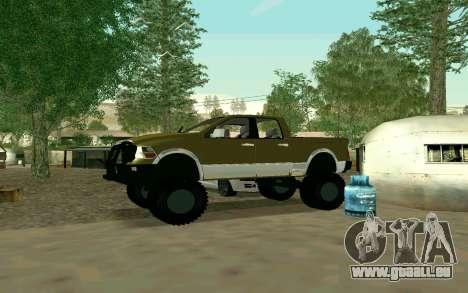 Dodge Ram 4x4 pour GTA San Andreas vue de droite