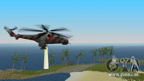 Mil Mi-24-Krokodil für GTA Vice City zurück linke Ansicht