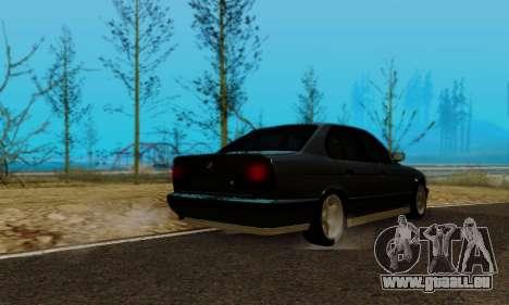 BMW M5 E34 1992 pour GTA San Andreas laissé vue