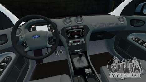 Ford Mondeo Estate Police Dog Unit [ELS] pour GTA 4 vue de dessus