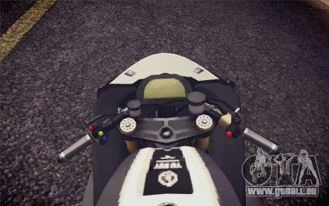 Yamaha YZF R1 2012 Black pour GTA San Andreas vue de droite