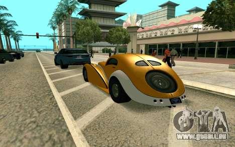 GTA V Z-type pour GTA San Andreas laissé vue