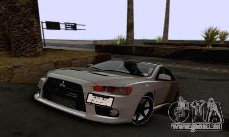 Mitsubishi Lancer X Evolution für GTA San Andreas Innen