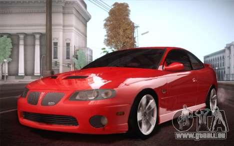 Pontiac GTO 2005 pour GTA San Andreas vue arrière