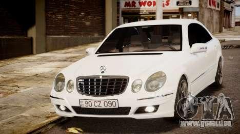 Mercedes-Benz E-Class Executive 2007 v1.1 pour GTA 4 Vue arrière de la gauche