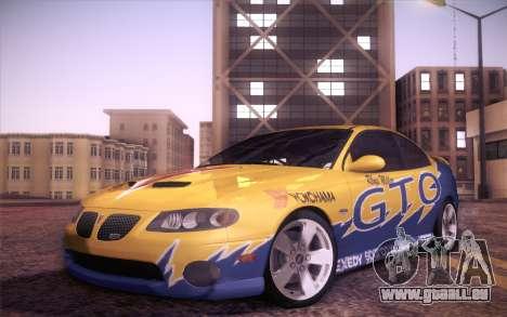 Pontiac GTO 2005 pour GTA San Andreas vue de dessus