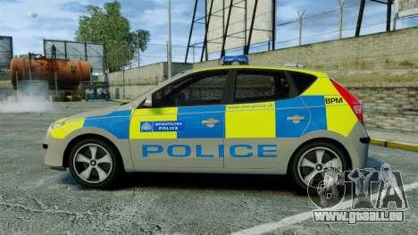 Hyundai i30 Metropolitan Police [ELS] pour GTA 4 est une gauche