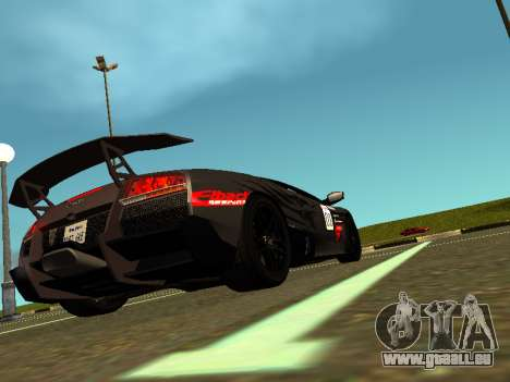 Lamborghini Murcielago LP670-4 SV Team Ravenwest für GTA San Andreas linke Ansicht