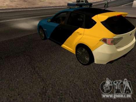 Subaru Impreza STi pour GTA San Andreas laissé vue