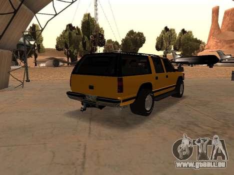 GMC Yukon pour GTA San Andreas vue arrière