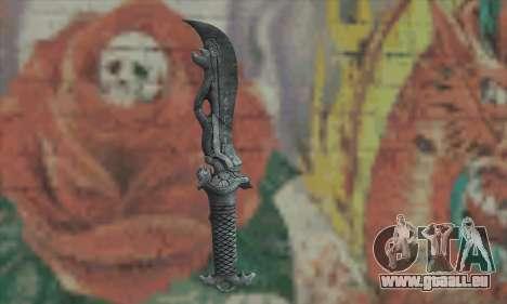 Chinese knife pour GTA San Andreas deuxième écran