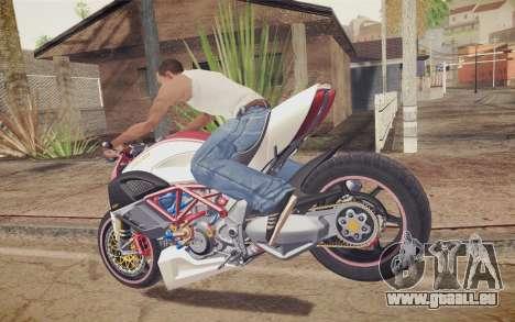 Ducati Diavel Carbon 2011 pour GTA San Andreas sur la vue arrière gauche