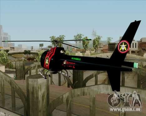 Sparrow BOPE für GTA San Andreas zurück linke Ansicht