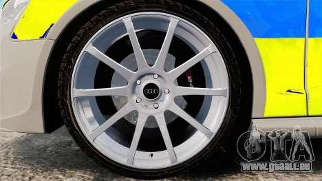 Audi S4 ANPR Interceptor [ELS] für GTA 4 Rückansicht