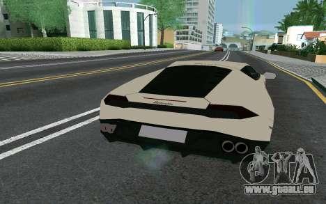 Lamborghini Huracane LP610-4 pour GTA San Andreas sur la vue arrière gauche
