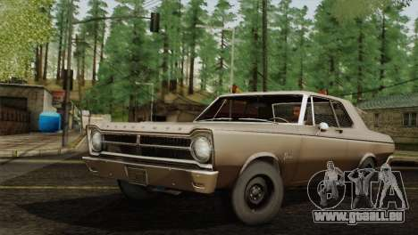 Plymouth Belvedere 2-door Sedan 1965 pour GTA San Andreas laissé vue