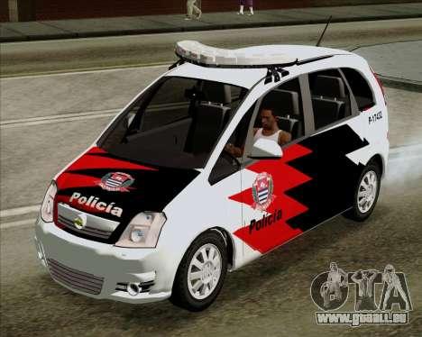 Chevrolet Meriva pour GTA San Andreas sur la vue arrière gauche