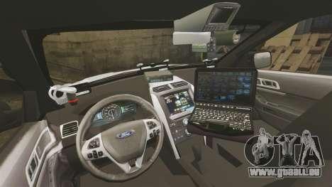 Ford Explorer 2013 LCPD [ELS] v1.5X pour GTA 4 Vue arrière
