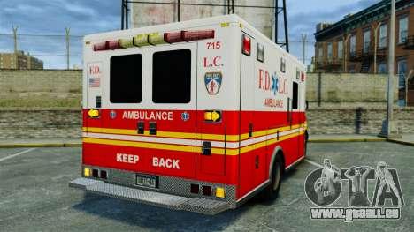 Brute FDLC Ambulance [ELS] für GTA 4 hinten links Ansicht