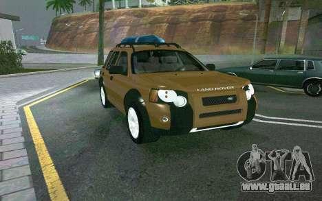 Land Rover Freelander pour GTA San Andreas sur la vue arrière gauche