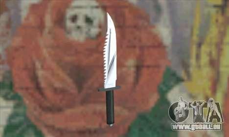 Couteau Rambo pour GTA San Andreas deuxième écran