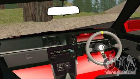 Toyota AE86 pour GTA San Andreas vue intérieure