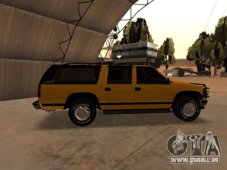 GMC Yukon pour GTA San Andreas sur la vue arrière gauche