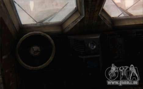 Oshkosh M-ATV pour GTA San Andreas sur la vue arrière gauche