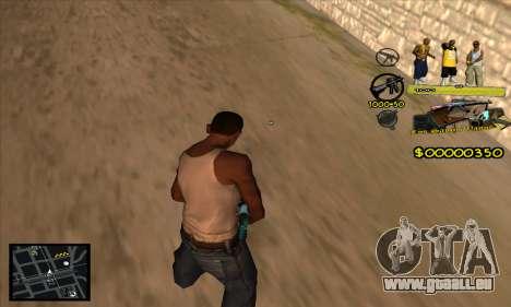 C-HUD Vagos Gang für GTA San Andreas zweiten Screenshot