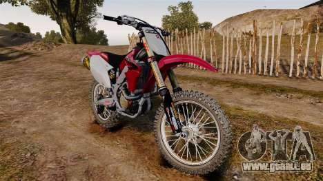 Kawasaki KX250F (Honda) pour GTA 4