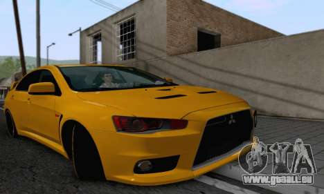 Mitsubishi Lancer X Evolution pour GTA San Andreas vue arrière