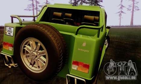 Lamborghini ML002 pour GTA San Andreas laissé vue