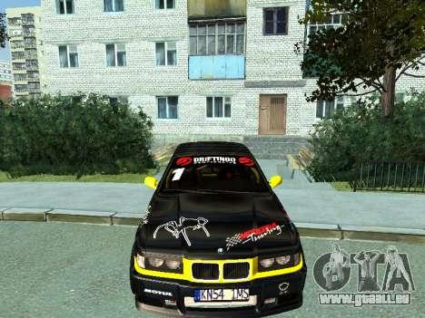 BMW M3 E36 Compact Darius Kepezinskas pour GTA San Andreas laissé vue