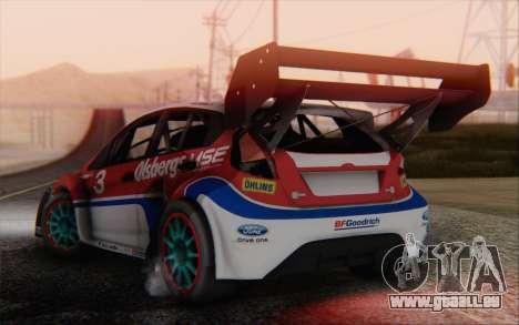 Ford Fiesta Omse HillClimb pour GTA San Andreas laissé vue