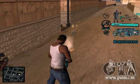 C-HUD Aztecas Gang pour GTA San Andreas troisième écran