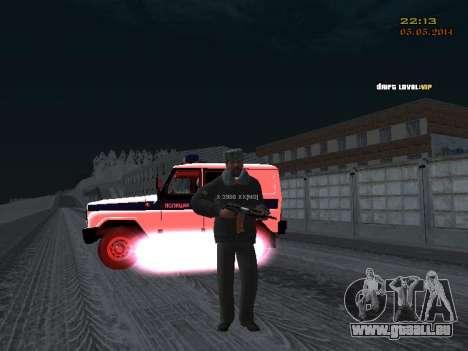 Pak DPS dans un format de l'hiver pour GTA San Andreas sixième écran