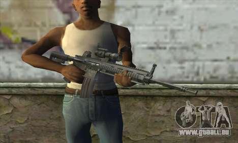 HK416 with ACOG pour GTA San Andreas troisième écran