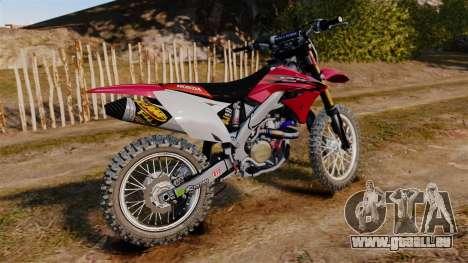 Kawasaki KX250F (Honda) pour GTA 4 est une gauche