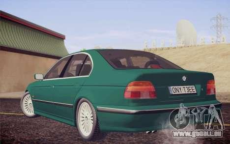 BMW M5 E39 528i Greenoxford pour GTA San Andreas laissé vue