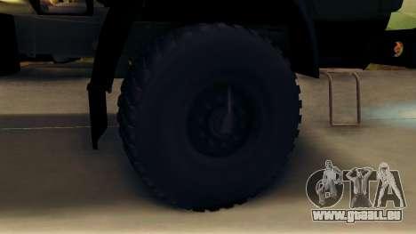 Kamaz 4310 Brevnova für GTA San Andreas Rückansicht