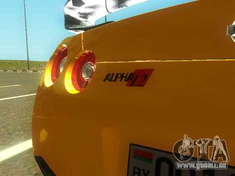 Nissan GT-R AMS Alpha 12 für GTA San Andreas Innenansicht