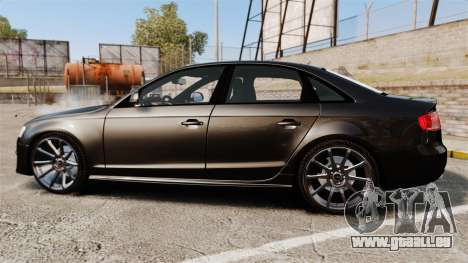 Audi S4 Unmarked Police [ELS] pour GTA 4 est une gauche