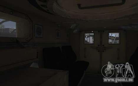MRAP de BF4 pour GTA San Andreas vue intérieure