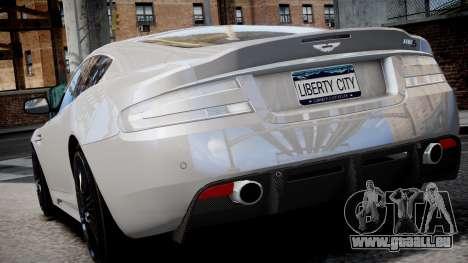 Aston Martin DBS v1.0 für GTA 4 Innenansicht